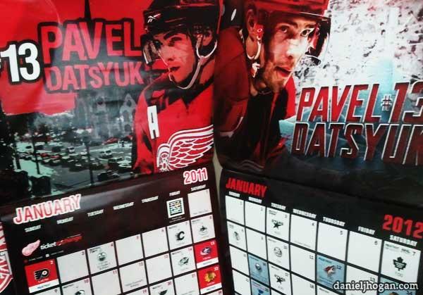 pavel datsyuk calendars