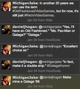 Galaga Twitter Exchange