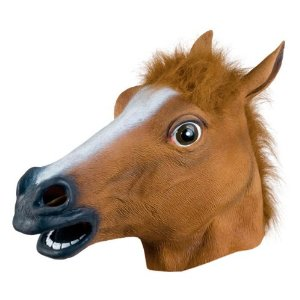 latext horse head mask for halloween on amazon