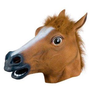 latext horse head mask for halloween on amazon