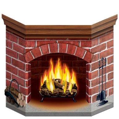 cardboard fireplace christmas decoration on Amazon.