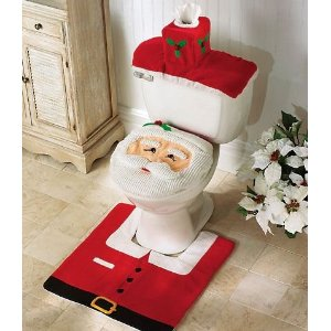 santa toilet christmas decoration on amazon