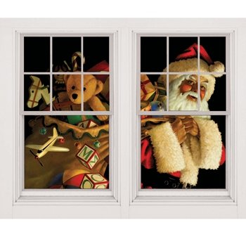 santa claus christmas window decoration on amazon.