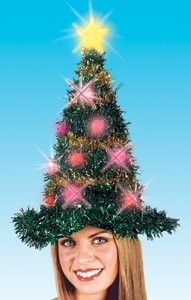light up christmas hat shaped like a tree on amazon
