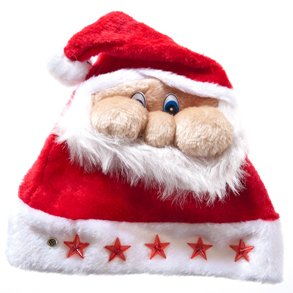 smooshed santa face christmas hat on amazon.com