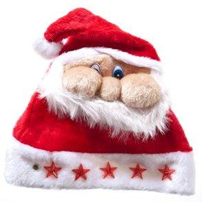 smooshed santa face christmas hat on amazon.com