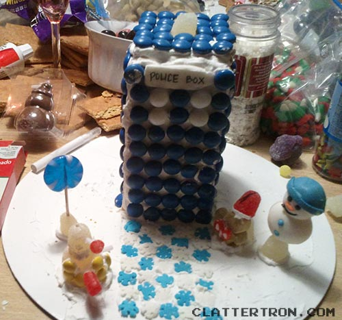christmas gingerbread TARDIS by Daniel J. Hogan