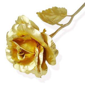 gold rose valentine's day gift