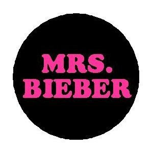 MRS. Bieber pin button