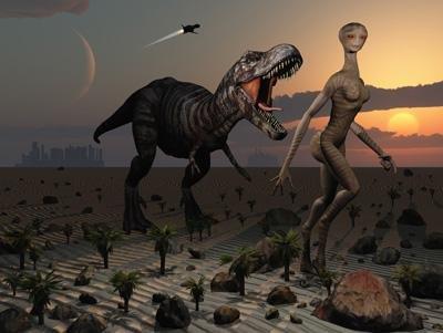 reptoid dinosaur poster