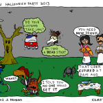 clattertron halloween comic by daniel j. hogan