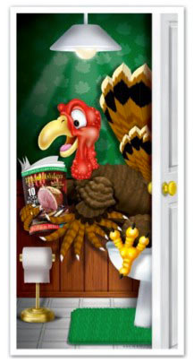 Thanksgiving turkey bathroom door cover