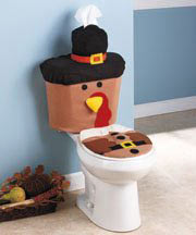 thanksgiving turkey pilgrim toilet cover