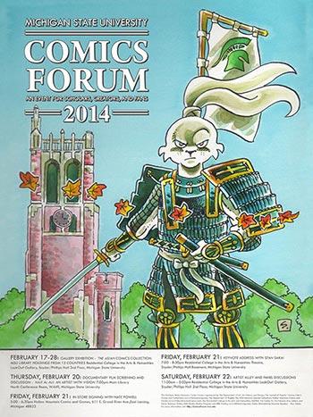 stan sakai msu comics forum poster