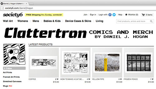 clattertron society6 store