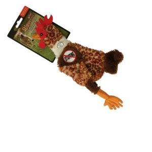 dog chicken no stuffing toy