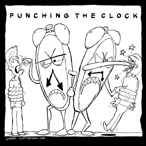 punching the clock pin-up