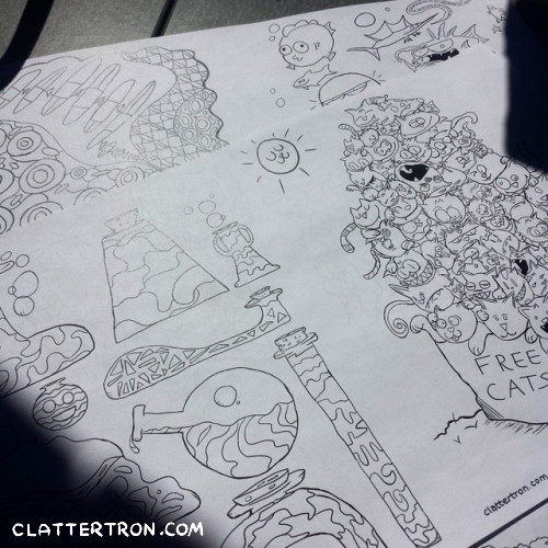 clattertron coloring book