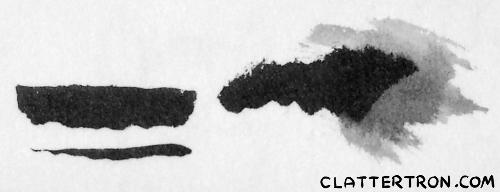 pentel fude ink smear
