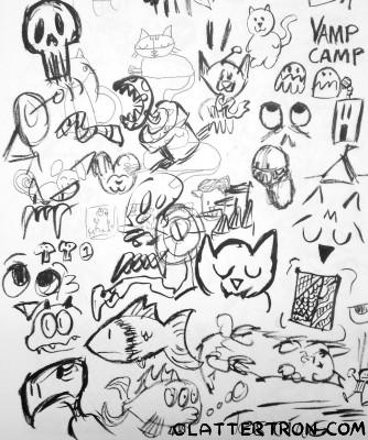 pentel fude sketches
