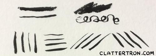 pocket brush pen strokes