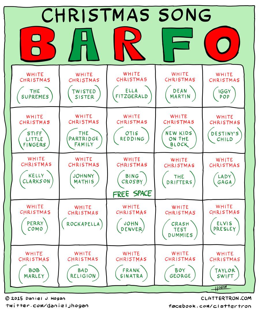 Comic - Christmas Song Barfo - Clattertron.com
