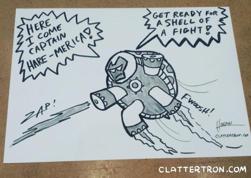 iron man turtle cartoon hogan