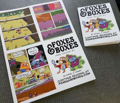 foxes boxes mini comic msu comics forum