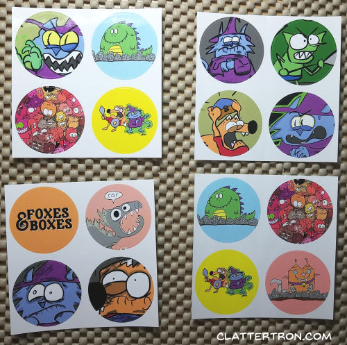 clattertron stickers moo