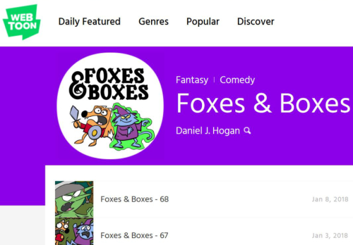 foxes boxes line webtoon